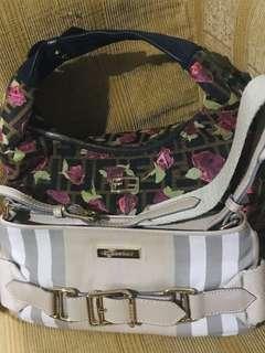 2 AUTHENTIC QUALITY BAGS - FENDI HOBO BAG AND BURBERRY HANDBAG
