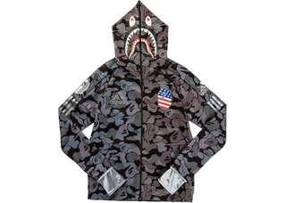 SIZE S Adidas x bape football hoodie black