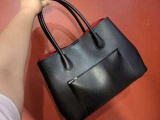 Repriced! Black / Red Office Shoulder Bag