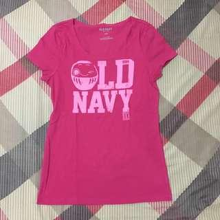 Old navy shirt kaos pink