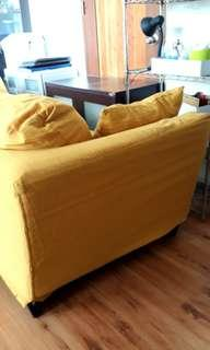For Sale Yellow Sofa