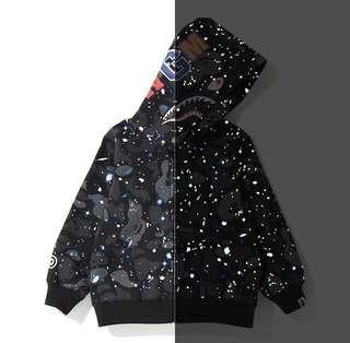 c14eaf288b84 Bape kids space camo shark hoodie