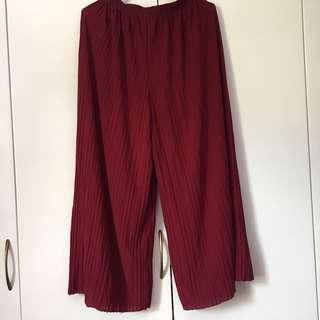 Red Crop Pants