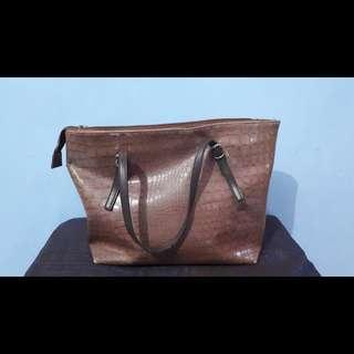 Noche bag - trapesium brown