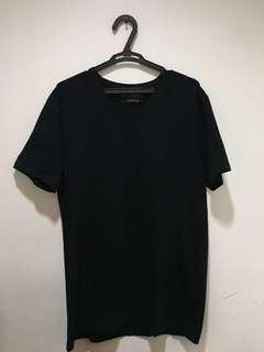Zara Man black v-neck shirt