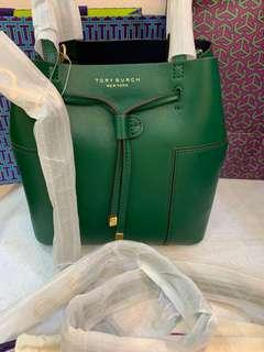 Authentic Tory Burch Block T small bucket bag