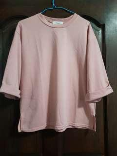 basic blush pink top