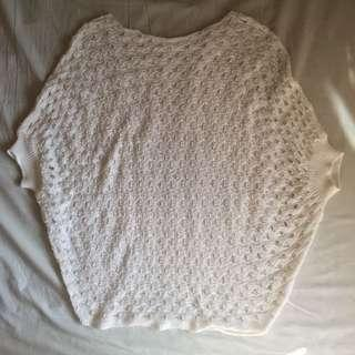 Knitted cover up top