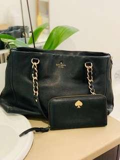 Authentic Kate Spage Bag and wallet