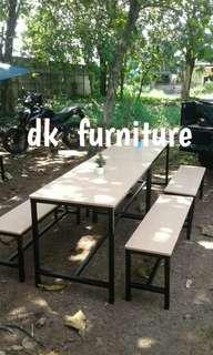 Meja makan warung cafe resto murah 1 set