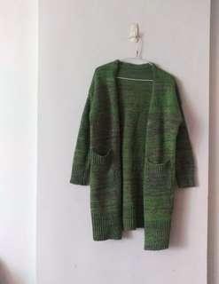 🚚 混色長版針織外套