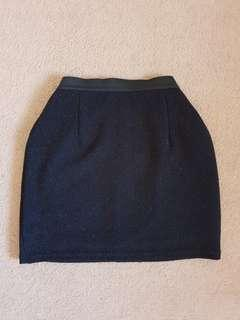 Mini glittery skirt