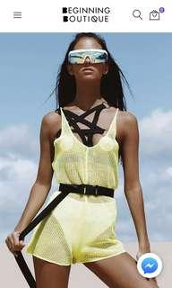 Beginning boutique Neon lime playsuit