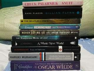 Palahniuk, Braswell, Schopenhauer, Murakami, Wilde, Ishiguro Books!