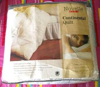 Novelle Continental White Quilt