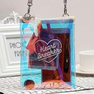 """🚚 (CURRENTLY UNAVAILABLE)PO: """"Heart Breaker"""" Holographic Bag"""