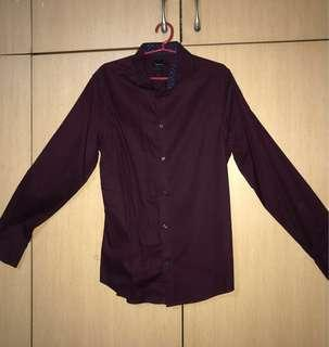 Authentic H&M Maroon Long Sleeves for men (Small)