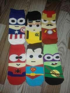 6pcs. Iconic socks Take All! 7-12years old.