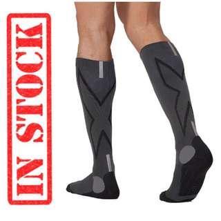 🚚 In Stock 2XU Men's Hyoptik Athletic Reflective Compression Socks