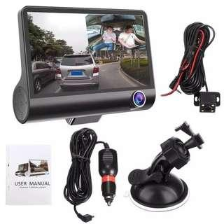 🚚 3 lens (Front, Inside, Rear/Reverse) Car Camera - with Parking Mode Function