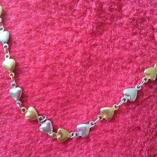 😍preloved hearty necklace 😍