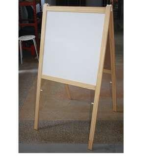 9SOLD) Dual white and black boards lightweight seldom used like new for educating children kids or used outside shop/stall/restaurant