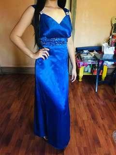 Sapphire blue dress