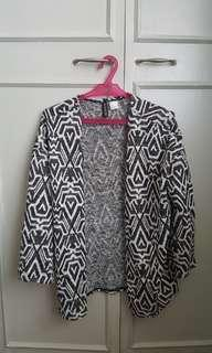 Divided by h&m black and white knit cardigan