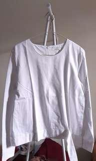 COTTON LONG SLEVES WHITE TOP - Restu Angraeni