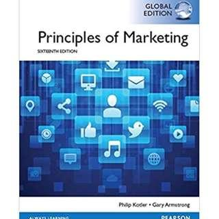 🚚 AB1501 Principles of marketing 16th/17th global edition