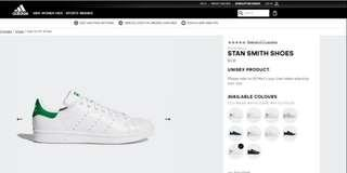 ADIDAS Mens Stan Smith shoes in Green