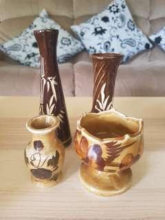 Brown Vintage Porcelain Set