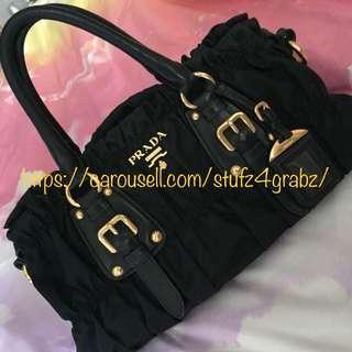 5cf393074f6d prada tessuto gaufre nero | Luxury | Carousell Singapore
