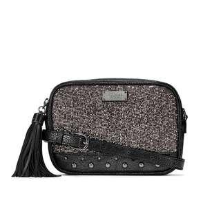 aa273126bdee Glitter Mesh Convertible City Crossbody Belt Bag