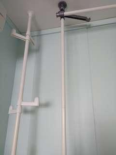 Expandable , moveable wardrobe and clothes and bag hanger