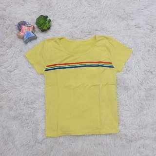 Yellow detailed shirt