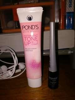 Pond's Instabright Tone Up Milk Cream dan Wardah Eyexpert Stay Last