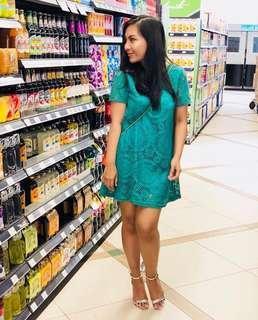 Green Dress / mini / lose
