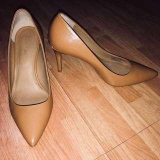 Calvin Klein Nude/Tan Heels
