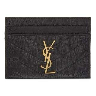🚚 SAINT LAURENT Monogram quilted leather card holder