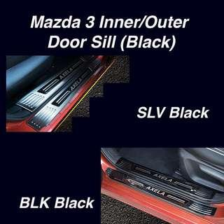 Mazda 3 Inner/ Outer Door Sill Scuff Plate (4 or 8 pieces)
