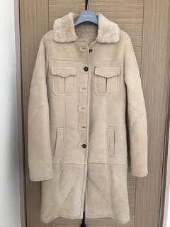 🚚 二手真皮麂皮外套,內鋪毛