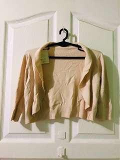 Crop knitted top blazer