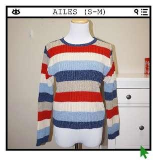 *Great Condition* AILES Stripe Sweater Women Size S-M