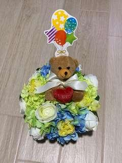 🚚 BN Floral Bouquet Valentine's Day Gift/ Bear/ Love/ New Born/ Handmade