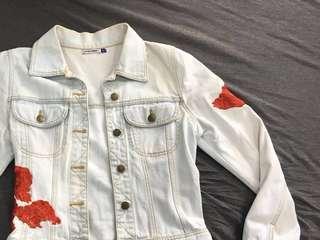 Rose denim jacket