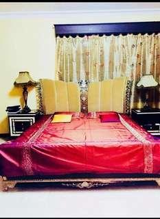 Bedcover dari india organdi mewah