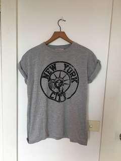 Grey new york tshirt