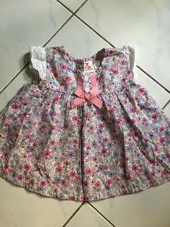 Tiny Button Baby Dress