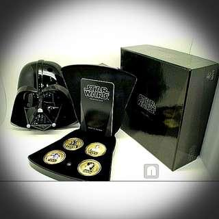 Gold Plated Coins In Darth Vader - Starwars